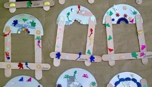 popsicle stick and cd frame craft