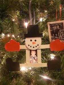 popsicle stick snowman