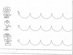 Tracing Curved Lines Worksheets For Kindergarten