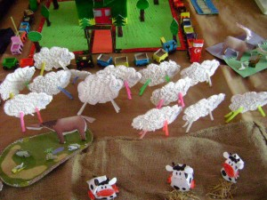 qtip sheep craft idea for kids
