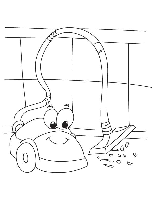 Electronics coloring page | Crafts and Worksheets for ... Vacuum Coloring Pages