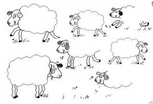 sheep trace worksheet