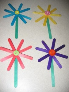 spring crafts with popsicle sticks