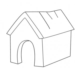 The Doghouse Coloring Page