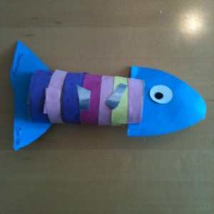 toilet paper roll fish