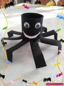 toilet paper roll spider craft