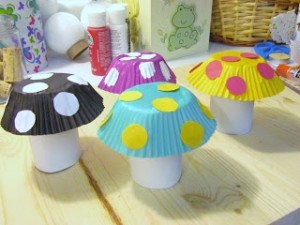 toilet paper rolls and cupcake liners