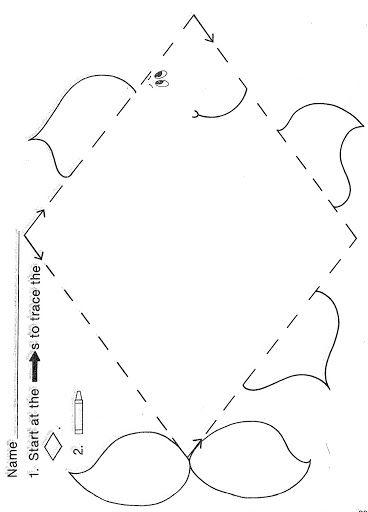 Trace Diamond Worksheet