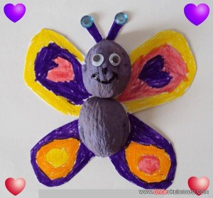 walnut butterfly craft