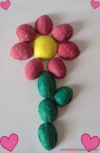 walnuts flower craft