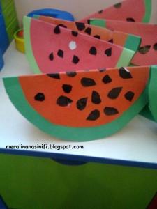 waterlemon craft for kids