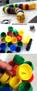 Bottle Cap Snake craft