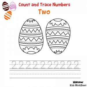 Count-and-Trace-Number-2-Easter-Worksheet
