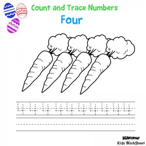 Count-and-Trace-Number-4-Easter-Worksheet