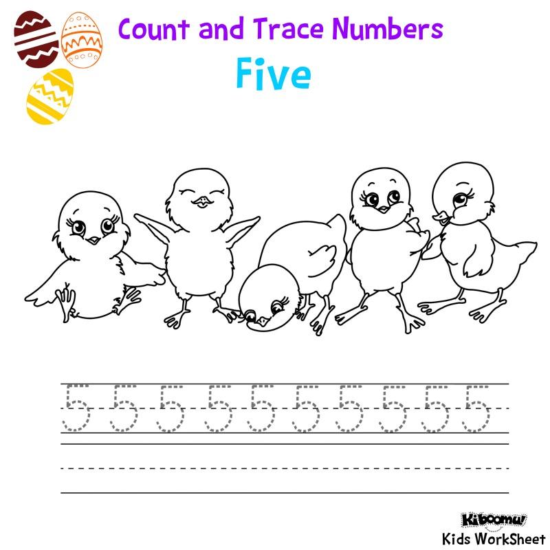 CraftsActvities and Worksheets for PreschoolToddler and Kindergarten – Number 5 Worksheet