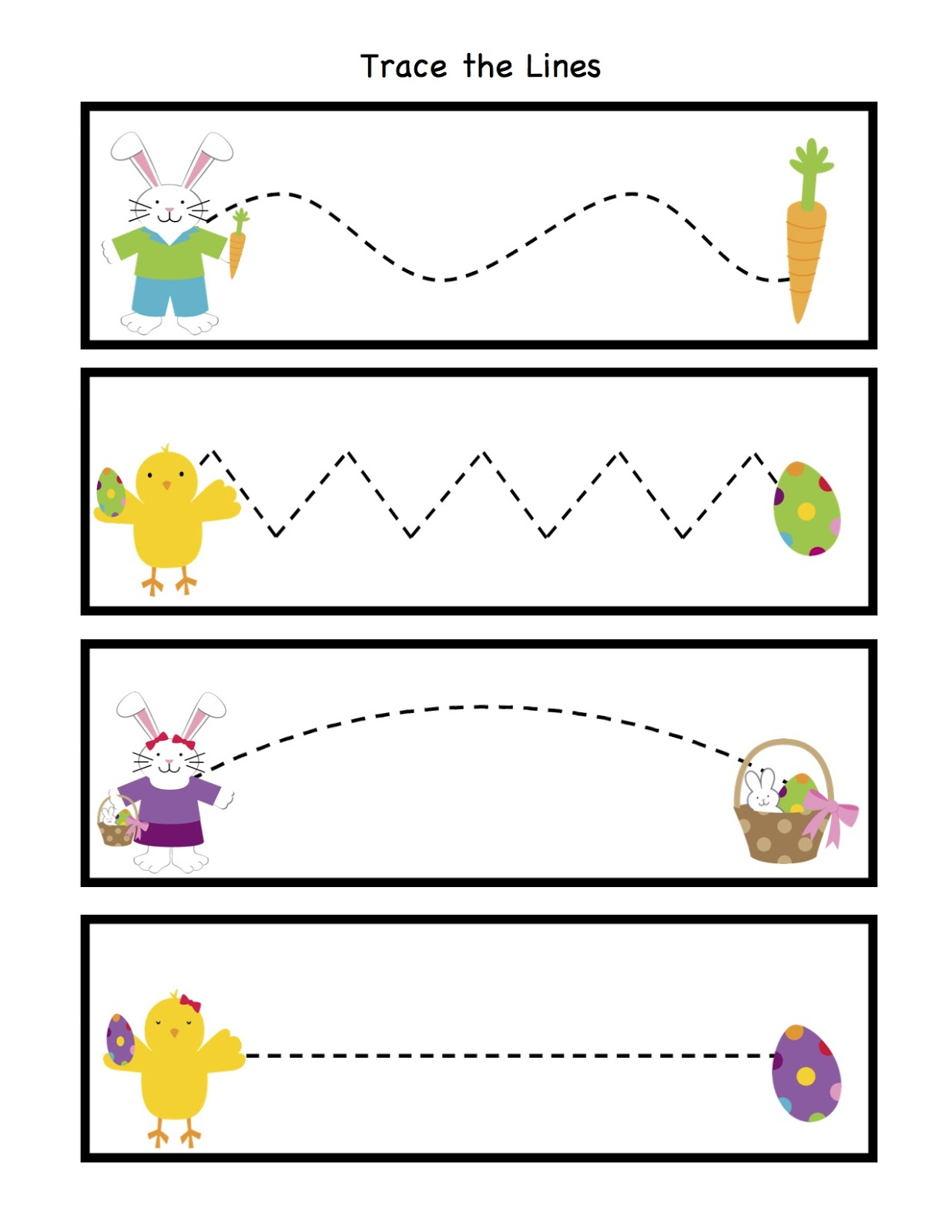 Worksheets Tracing Lines Worksheets craftsactvities and worksheets for preschooltoddler kindergarten easter trace the lines