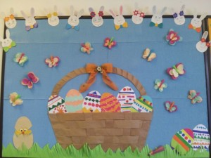 Easter bulletin board idea 3