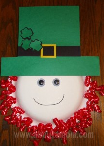 Leprechaun Paper Plate Craft for St Patrick's Day