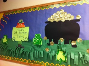 March bulletin board idea for kids