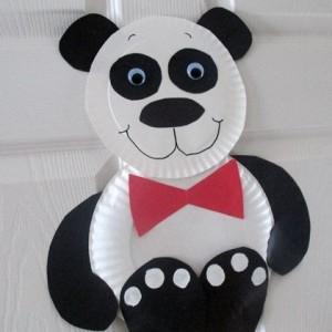 Paper Plate Panda