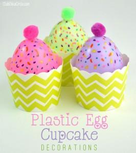 Plastic Easter Egg Cupcake