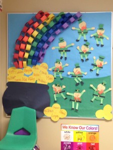 Saint Patricks Day Bulletin Board