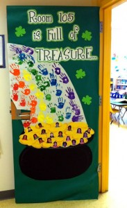 Saint Patricks Day Bulletin Board idea for preschool (1)