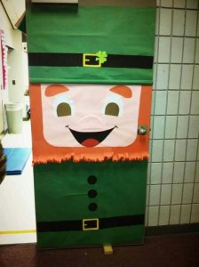 Saint Patricks day door for classroom
