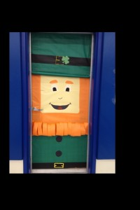 St Patrick door decoration for school