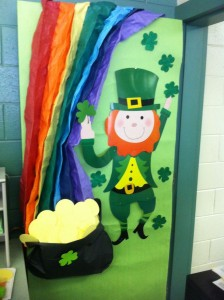 St. Patrick Day door decoration
