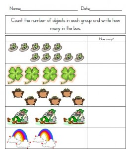 St. Patrick's Day Counting Practice