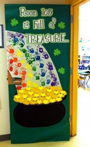 St. Patrick's Day Door Display