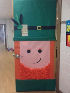 St. Patrick's Day Door craft idea