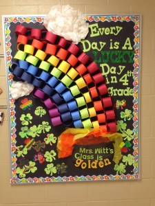 St. Patrick's Day bulletin board