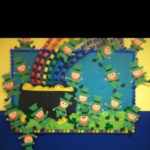 St. Patrick's Day bulletin board idea