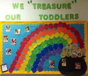 St. Patrick's Day bulletin board idea for kids
