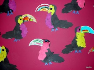 Jungle animals craft idea for kids