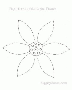 Tracing Practice Flower Printable
