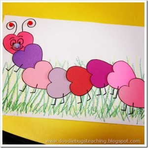 Valentine Caterpillar craft