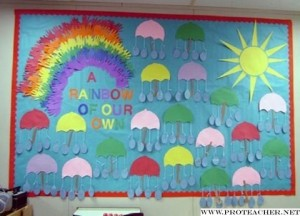 april bulletin board