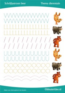 bear  trace worksheet