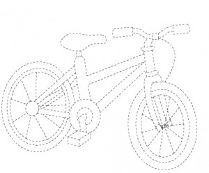 Transportations Trace Worksheet For Kids on first bicycle