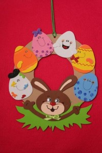 bunny easter wreath craft