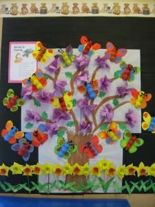 butterfly bulletin board