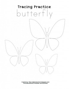 butterfly trace worksheet