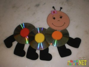cd caterpillar crafts
