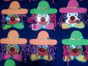 cd clown craft idea for kids