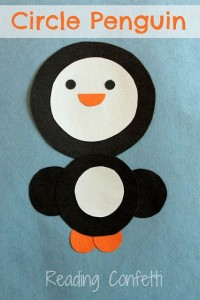 circle penguin craft