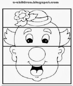 clown puzzle worksheet
