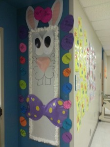 easter bulletin board idea